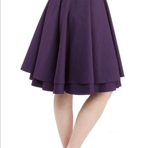 ModCloth Essential Elegance Skirt in Purple